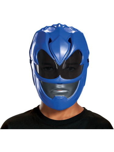 Child's Boys Power Rangers Movie Blue Ranger Vacuform Mask Costume Accessory