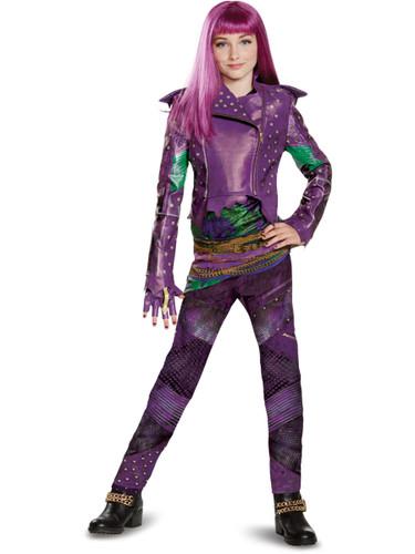 Child's Girls Prestige Disney Descendants 2 Isle Look Mal Costume