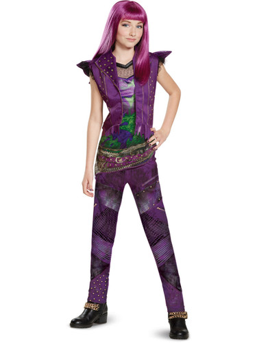 Child's Girls Classic Disney Descendants 2 Isle Look Mal Costume