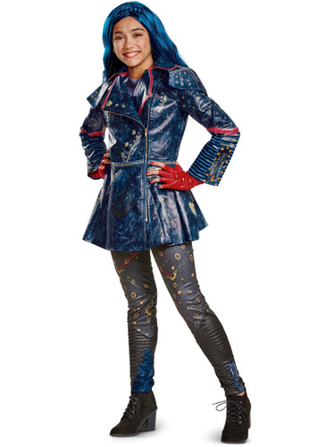 Child's Girls Prestige Disney Descendants 2 Isle Look Evie Costume