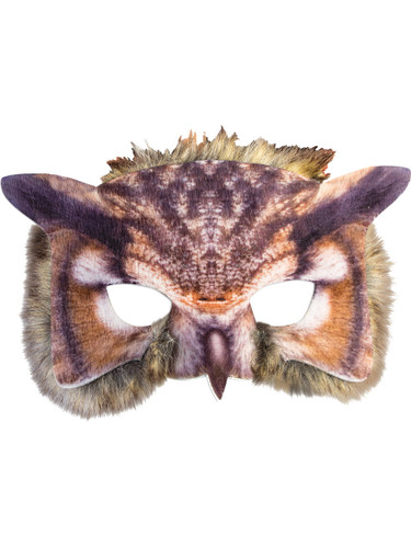 Adult's Cute Wild Farm Animal Brown Barn Owl Mask Costume Accessory