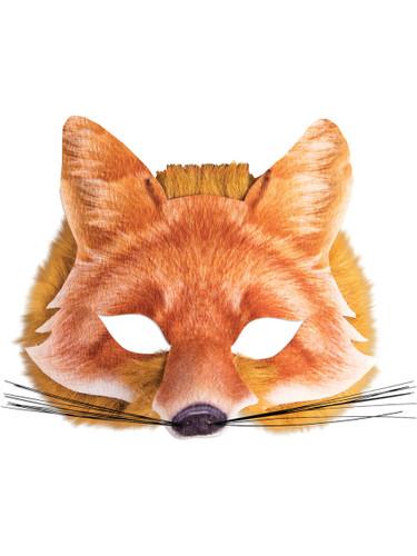 Adult's Cute Wild Farm Animal Red Fox Mask Costume Accessory