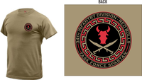 Red Bulls Task Force Spartan 100% Cotton Tee (AR 670-1 Compliant)