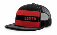SBM Trucker Striped Flatbill