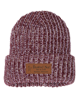 The Busted Nut Chunky Knit Cap - Maroon