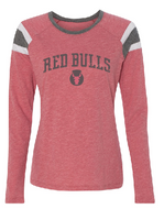 Red Bulls Ladies Long Sleeve Jersey Slub Tee