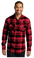Red Bulls Plaid Flannel Shirt