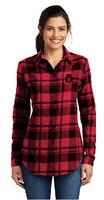 Red Bulls Ladies Plaid Flannel Tunic