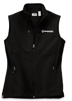TempWorks Ladies High Stretch Fleece-Lined Softshell Vest