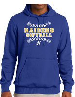 HHS Softball Fleece Hoodie-Glitter Lettering