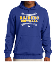 HHS Softball Fleece Hoodie-Twill Lettering