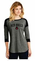 Red Bulls New Era® Ladies   Baseball Raglan Tee