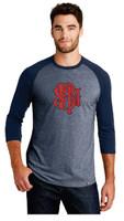SBMFD New Era® Heritage Blend 3/4-Sleeve Baseball Raglan Tee