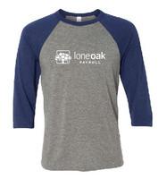 Lone Oak Ringspun Three-Quarter Sleeve Baseball T-Shirt