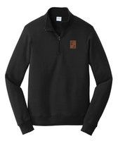 Semana 1/4 Zip Fleece Sweatshirt with Leatherette Patch