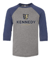 Kennedy Elementary Screen Printed Youth 3/4 Sleeve Baseball T-Shirt
