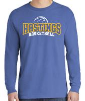 HHS Girls Basketball Fan - Comfort Colors® Heavyweight Garment Washed Long Sleeve Tee