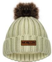Morcon Cable Knit Beanie With Removable Pom