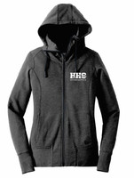 HHS Gymnastics New Era® Ladies Tri-Blend Fleece Zip Hoodie