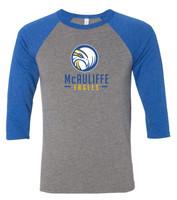 McAuliffe  Unisex Three-Quarter Sleeve Baseball Tee
