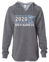 Brew Madness Women's Lightweight California Wave Wash Hooded Sweatshirt