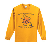 Elbow Bump Fundraiser Long Sleeve Tee - Gold