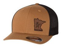 Busted Nut Flexfit Trucker Cap with MN patch - Caramel