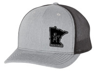 Busted Nut Snapback Trucker Cap with MN patch - Heather Grey