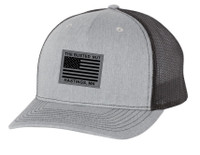 Busted Nut Snapback Trucker Cap with Flag patch - Heather Grey