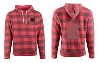 Busted Nut Tri-blend Pullover Hoodies - Buffalo Plaid