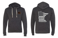 Busted Nut Tri-blend Pullover Hoodies - Black