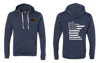 Busted Nut Tri-blend Pullover Hoodies - Navy