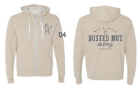 Busted Nut French Terry Zip Hoody- Oatmeal Heather