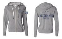 Busted Nut French Terry Zip Hoody- Salt & Pepper