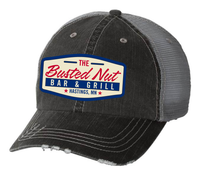Busted Nut Vintage Trucker Patch Hat- Smoke