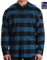 THIS OLD HORSE LONG SLEEVE FLANNEL - BLUE & BLACK