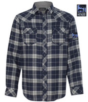 THIS OLD HORSE LONG SLEEVE FLANNEL - NAVY  & GREY