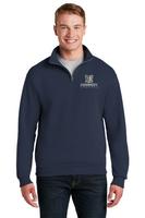 Kennedy Elementary Embroidered NuBlend® 1/4-Zip Cadet Collar Sweatshirt