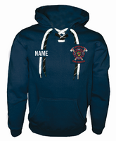 Lonsdale Fire Hockey Lace Hooded Sweatshirt