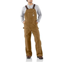 City Of Hastings Carhartt Duck Bib Overalls -Zip to thigh