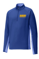 HHS Football Fan Sport-Wick Stretch Contrast 1/2-Zip Pullover