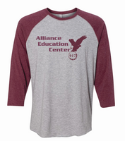 Alliance Education Center Jersey  3/4 Sleeve Baseball Tee