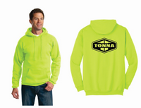 Tonna Safety Green Hooded Sweatshirt