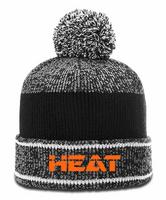 Hastings Heat Heathered Pom Beanie