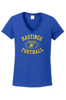 Hastings Football V-Neck - Ladies