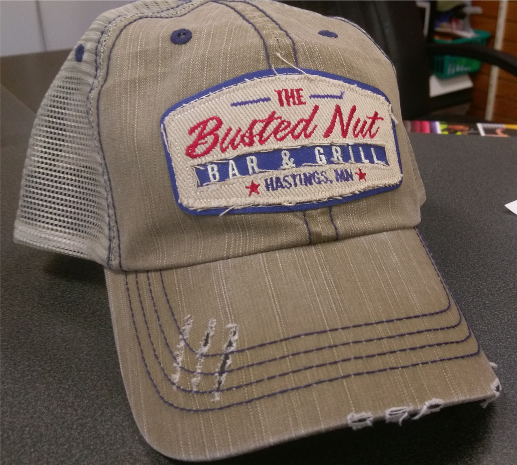 Busted Nut Vintage Trucker Patch Hats - OrderTeamGear.com by United ... 86a205bc593b