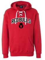 Red Bulls Hockey Lace Hooded Fleece Sweatshirt