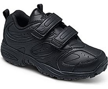 SHOE STRIDERITE YOUTH BLK VELCRO