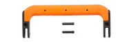 "Injection Molded 8 3/4"" Handle Orange"