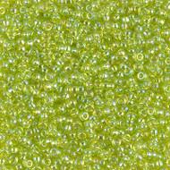 11/0 Miyuki Glass Seed beads Chartruese AB 28 Grams